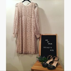 💎SALE💎 See by Chloe Swiss Dot Pleated Dress
